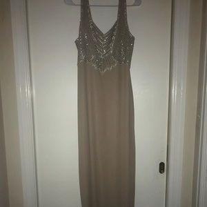 Dresses & Skirts - Nude beaded dress